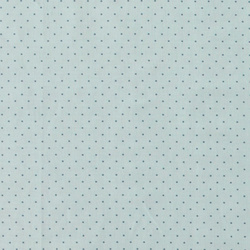 Cotton mint w blue dots